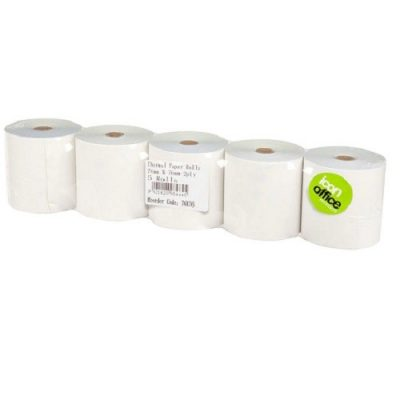 ICON THERMAL PAPER ROLL 76X76 2PLY PACK 5