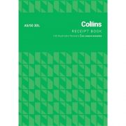 COLLINS RECEIPT BOOK A5/50 3 DL NCR