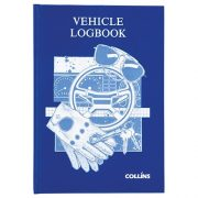 COLLINS VEHICLE LOG BOOK A5 HARDCOVER 44LF