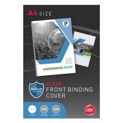 GBC BINDING COVERS 150 MICRON A4 CLEAR 100PK