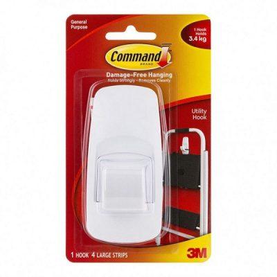 3M COMMAND HOOKS 17004 JUMBO WHITE 1PK