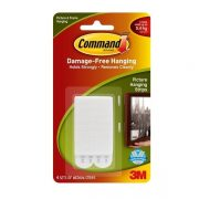 3M COMMAND PICTURE HANGING STRIPS 17201 MEDIUM WHITE 4PK