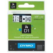 DYMO D1 12MM 45013 BLACK ON WHITE LABEL TAPE