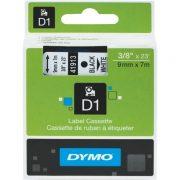 DYMO D1 9MM 40913 BLACK ON WHITE LABEL TAPE