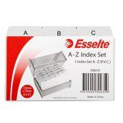 ESSELTE SYSTEM CARD INDICE A-Z 5X3 GREY