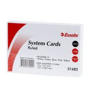 ESSELTE SYSTEM CARDS RULED 6X4 WHITE
