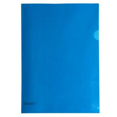 ESSELTE A4 L SHAPE POCKETS BLUE PACK 12