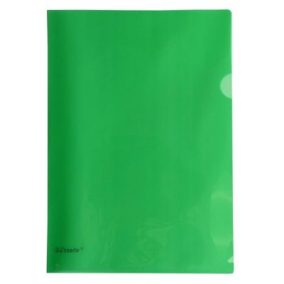 ESSELTE A4 L SHAPE POCKETS GREEN PACK 12