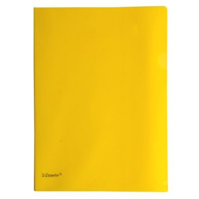 ESSELTE A4 L SHAPE POCKETS YELLOW PACK 12