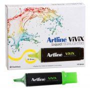 ARTLINE VIVIX HIGHLIGHTER GREEN BOX 10