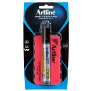 ARTLINE WHITEBOARD MAGNETIC ERASER & MARKER KIT BLACK
