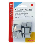 ESSELTE NALCLIP REFILL LARGE PK25