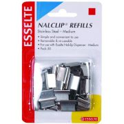 ESSELTE NALCLIP REFILL MEDIUM PK50