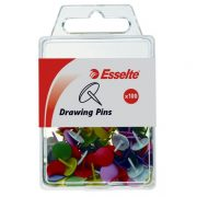 ESSELTE DRAWING PINS ASSORTED PK100