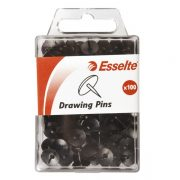 ESSELTE DRAWING PINS BLACK PK100