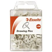 ESSELTE DRAWING PINS WHITE PK100