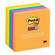 3M POST IT NOTES 654 76X76MM SUPER STICKY RIO DE JANIERO 5PK