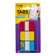 3M POST IT DURABLE TABS 686 25X38MM ASSORTED 66PK
