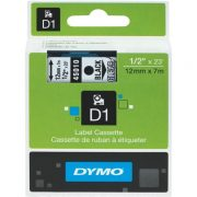DYMO D1 12MM 45010 BLACK ON CLEAR LABEL TAPE