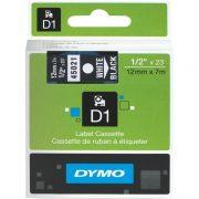 DYMO D1 12MM 45021 WHITE ON BLACK LABEL TAPE