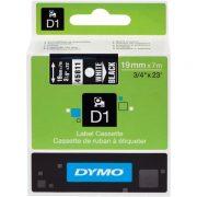DYMO D1 19MM 45811 WHITE ON BLACK LABEL TAPE
