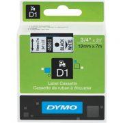 DYMO D1 19MM 45803 BLACK ON WHITE LABEL TAPE