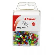 ESSELTE MAP PINS ASSORTED 200 PACK