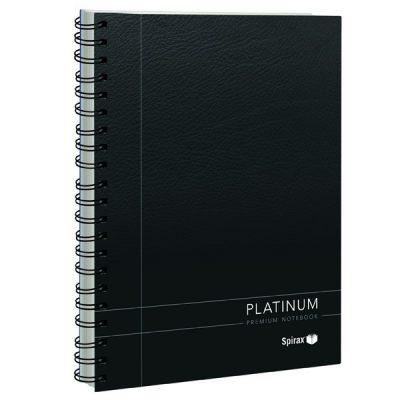 SPIRAX 400 PLATINUM NOTEBOOK A4 200 PAGE BLACK