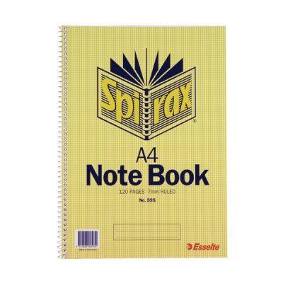 SPIRAX 595 NOTEBOOK A4 120 PAGE