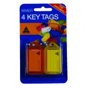 KEVRON ID5 KEY TAGS ASSORTED PACK 4