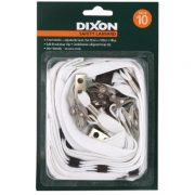 DIXON LANYARD FLAT WHITE PACK 10