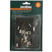 DIXON LANYARD FLAT BLACK PACK 10