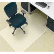 MARBIG DELUXE CHAIR MAT (0-12MM) 91X121CM KEYHOLE