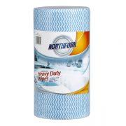 NORTHFORK HEAVY DUTY ANTIBACTERIAL PERFORATED WIPE 45M BLUE