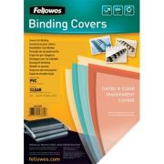 FELLOWES BINDING COVER 200 MICRON A4 CLEAR 50PK