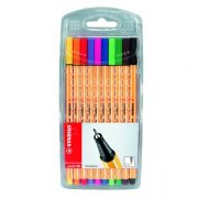 STABILO POINT 88 FINELINER ASSORTED 10 PACK
