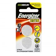 ENERGIZER CR2016 3V LITHIUM CELL BATTERY 2PK
