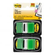 3M POST IT FLAGS 680 25X43MM GREEN 100PK