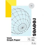 REEVES GRAPH PAD 1MM A3 BLUE