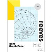 REEVES GRAPH PAD 1MM A4 BLUE
