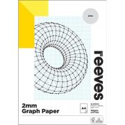 REEVES GRAPH PAD 2MM A4 BLUE