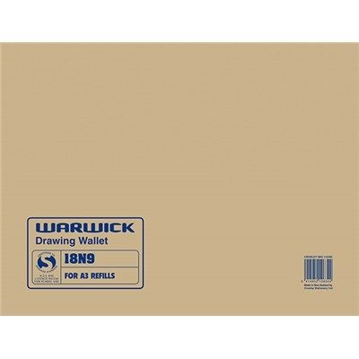 WARWICK DRAWING WALLET 18N9 A3 420 X 297MM