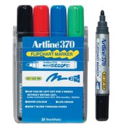 ARTLINE 370 FLIPCHART MARKER 2MM BULLET WALLET 4 ASSORTED