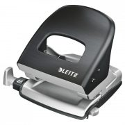 LEITZ STYLE METAL 2 HOLE PUNCH SATIN BLACK