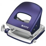 LEITZ STYLE METAL 2 HOLE PUNCH TITAN BLUE