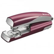 LEITZ STYLE METAL STAPLER GARNET RED