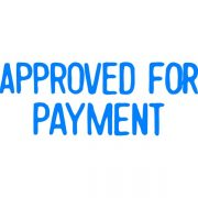 XSTAMPER CX-BN 1025 APPROVED FOR PAYMENT BLUE