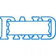 XSTAMPER CX-BN 1201 PAID / DATE BLUE
