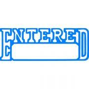 XSTAMPER CX-BN 1205 ENTERED / DATE BLUE