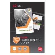 GBC BINDING COVERS 250 MICRON A3 CLEAR 25PK